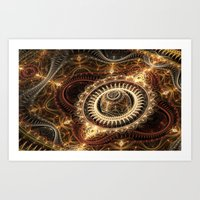 Clockwork 2 Art Print