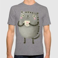 I♥you Mens Fitted Tee Tri-Grey SMALL