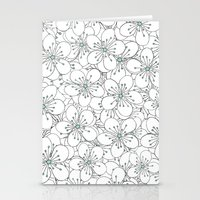 Cherry Blossom Mint Stationery Cards