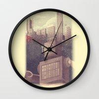 A City Snow-Bot Wall Clock