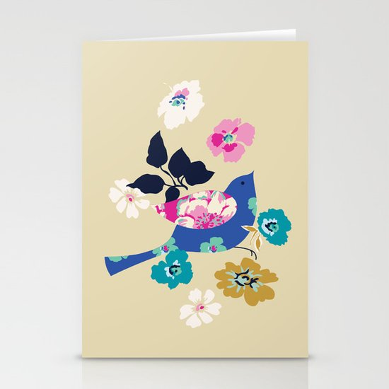 Birds and Blooms 2 Stationery Card