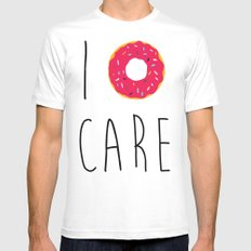 I Donut Care Funny Quote SMALL Mens Fitted Tee White