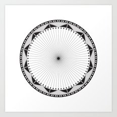 Circle Pattern 228 Art Print