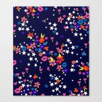 star floral Canvas Print