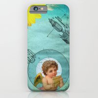 iPhone & iPod Case featuring Angel playing music in space by Alexandros Papalexis