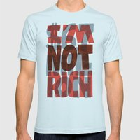 Newt's Not Rich Mens Fitted Tee Light Blue SMALL