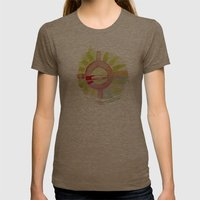 emotional Womens Fitted Tee Tri-Coffee SMALL