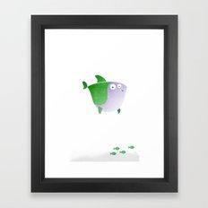 Plumply Shark  Framed Art Print