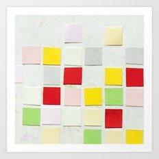 Colour Blocks Papercut Art Print