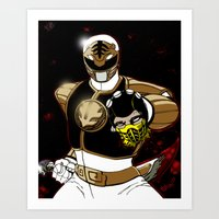 White Ranger Vs. Scorpion Art Print