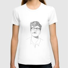 James Dean Womens Fitted Tee White SMALL
