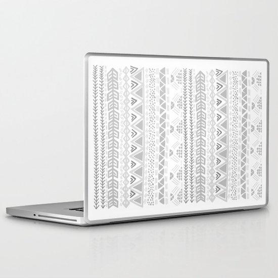 Grey aztec pattern Laptop & iPad Skin