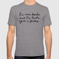 Paradis Mens Fitted Tee Tri-Grey SMALL