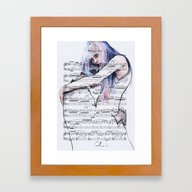Waiting Place On Music S… Framed Art Print