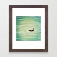 baby duck Framed Art Print
