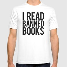 Banned Books REvised White Mens Fitted Tee SMALL
