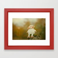 Just Sitting In The Even… Framed Art Print