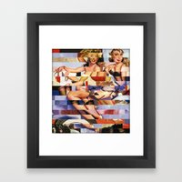 Glitch Pin-Up Redux: Tay… Framed Art Print