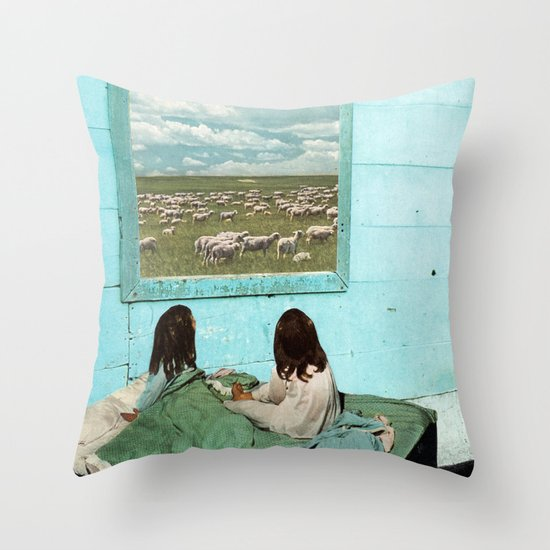 COUNT SHEEP Throw Pillow