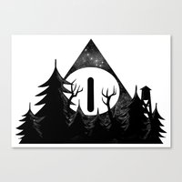 Bill Cipher: I'll Be Watching You Canvas Print