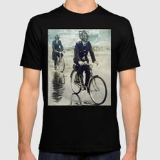 Cybermen on bikes Mens Fitted Tee Black SMALL