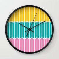Arrows (Yellow, Aqua, Pi… Wall Clock
