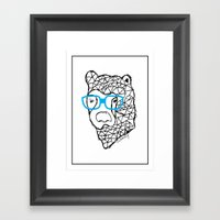 The Bear Framed Art Print