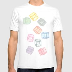 Cubes  Mens Fitted Tee White SMALL