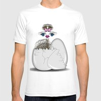 Newborn Ostrich Mens Fitted Tee White SMALL