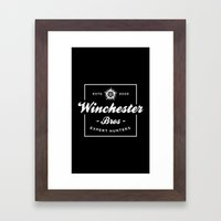 Winchester Bros - Expert Hunters Framed Art Print