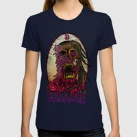 PARANOID TSHIRT Womens Fitted Tee Navy SMALL