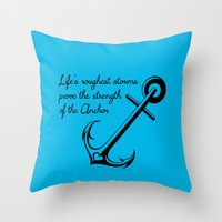 Who Is Your Anchor? Throw Pillow