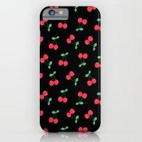 Cherries on Black iPhone 6 Slim Case