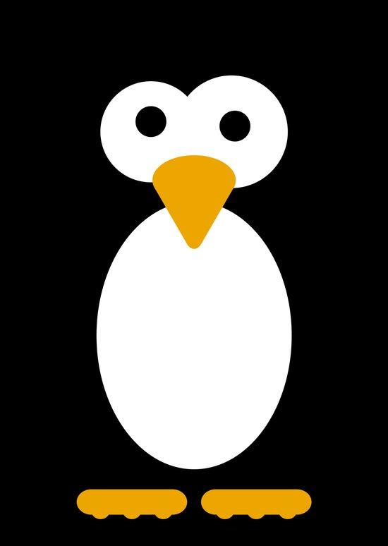 Minimal Penguin Art Print