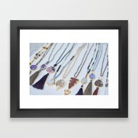 Quest Stones Boho Jewelry Framed Art Print