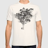 Tree And Gangster Mens Fitted Tee Natural SMALL