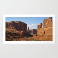 Park Avenue - Arches National Park Art Print