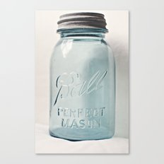 Vintage Mason Jar Canvas Print