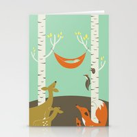 Woodland Baby Stationery Cards