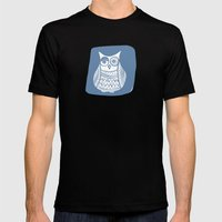 Hoot 1 Mens Fitted Tee Black SMALL