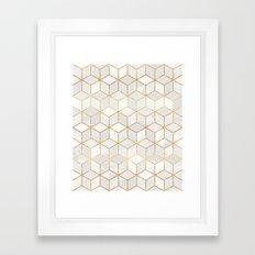 White Cubes Framed Art Print