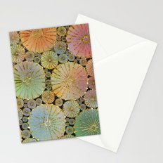 Abstract Floral Circles 2 Stationery Cards