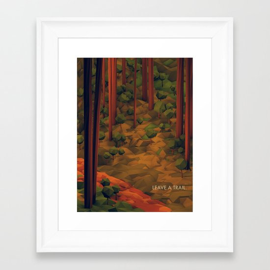 Leave A Trail Framed Art Print