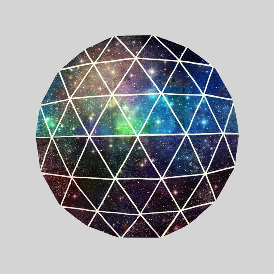 Space Geodesic Art Print