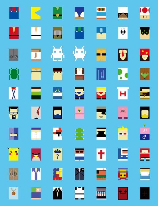 Minimalism beloved Videogame Characters Canvas Print