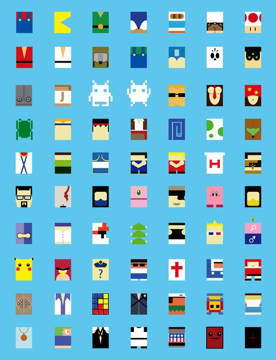 Minimalism beloved Videogame Characters Art Print
