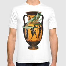Ancient Greek SMALL Mens Fitted Tee White