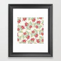 Dragon Flower Watercolor Framed Art Print