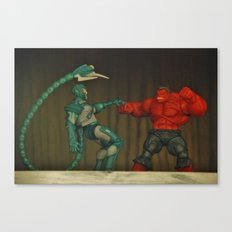 Red Hulk Fight Crime Canvas Print