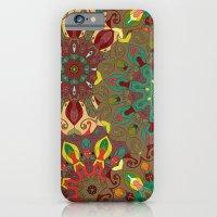 Green, Red & Yellow Boho Mandela Pattern iPhone 6 Slim Case